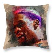 Dennis Rodman Throw Pillow