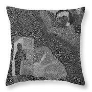 Detail From Sgt. Pepper's Mug Head Throw Pillow