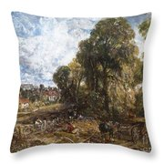 Stoke-by-nayland Throw Pillow