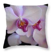 7195-orchids Throw Pillow