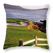 7th Hole At Pebble Beach Golf Links Throw Pillow