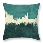 Birmingham England Skyline Throw Pillow