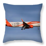 Easyjet Neo Livery Airbus A320-251n Throw Pillow