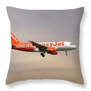 Easyjet Unicef Livery Airbus A319-111 Throw Pillow
