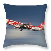 Ernest Airbus A320-233 Throw Pillow