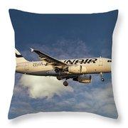 Finnair Airbus A319-112 Throw Pillow
