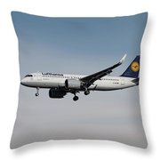 Lufthansa Airbus A320-271n Throw Pillow