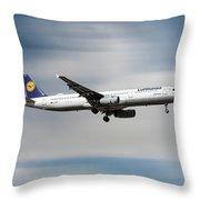 Lufthansa Airbus A321-231 Throw Pillow