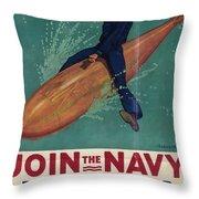 Wartime Propaganda Poster Throw Pillow
