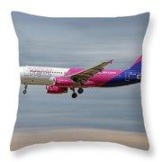 Wizz Air Airbus A320-232 Throw Pillow