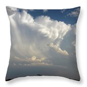 Prairie Storm Clouds Throw Pillow