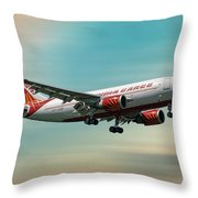 Air India Cargo Airbus A310-304 Throw Pillow