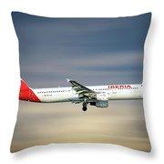 Iberia Airbus A321-212 Throw Pillow