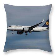 Lufthansa Airbus A320-271n Throw Pillow