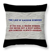Murphy's Law Of Nature Throw Pillow
