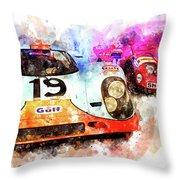 917 At Le Mans Throw Pillow