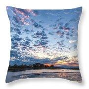 Danvers River Sunset Throw Pillow