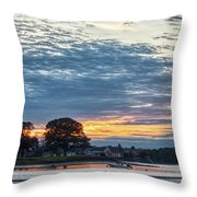 Danvers River Sunset Throw Pillow