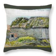 A Barn With A Mossy Roof, Shoreham - Digital Remastered Edition Throw Pillow
