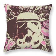 A Battle Storm Throw Pillow