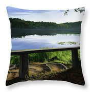 A Bench To Ponder Throw Pillow