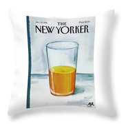 A Bit Of Oj To Start The Day Throw Pillow