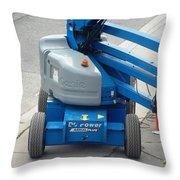 A Boom Lift Genie Z45 Machine Throw Pillow