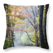 A Canopy Of Autumn Leaves Throw Pillow