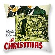 A Christmas Carol Movie Poster 1938 Throw Pillow