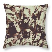 A Classic Christmas Scene Throw Pillow
