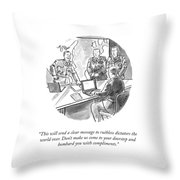 A Clear Message Throw Pillow