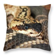 A Close Up Of A Mojave Rattlesnake Throw Pillow