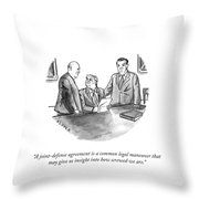 A Common Legal Maneuver Throw Pillow