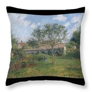 A Corner Of The Meadow At Eragny, 1902 Throw Pillow