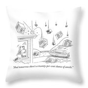 A Couple Watches As It Rains Safes Throw Pillow