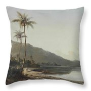 A Creek In Saint Thomas, Antilles, 1856 Throw Pillow
