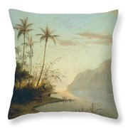 A Creek In St. Thomas Virgin Islands, 1856 Throw Pillow