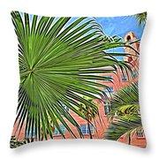 A Don Cesar Palm Frond Throw Pillow