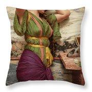 A Fair Reflection, 19th Century Throw Pillow