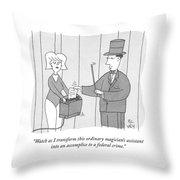 A Federal Crime Throw Pillow