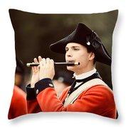 Fife Player II Throw Pillow