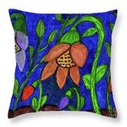 A Flower Garden Throw Pillow