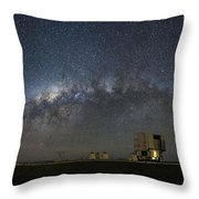 A Galactic View From The Observation Deck Throw Pillow