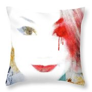 A Girl For These Times Throw Pillow