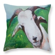 A Goat To Love Throw Pillow