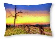 A Gorgeous Blue Ridge Sunrise Ap Throw Pillow