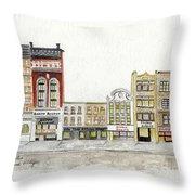 A Greenwich Village Streetscape Throw Pillow