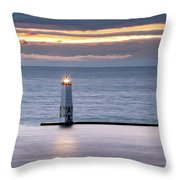 A Guiding Light Throw Pillow by Fran Riley