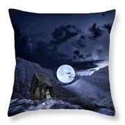 A Haunted Mountain Pass Throw Pillow