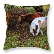 A Herd In 15 Feet Throw Pillow